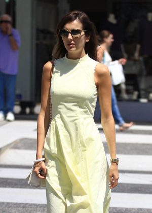 Camilla Belle in Long Dress Shopping in Beverly Hills