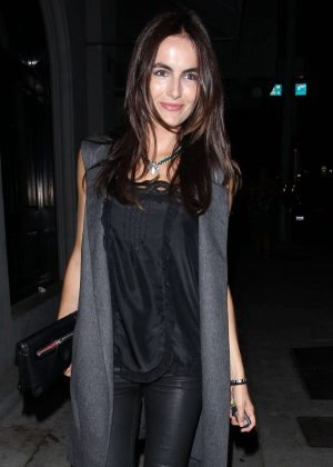 Camilla Belle - Leaving Craig's Restaurant in West Hollywood