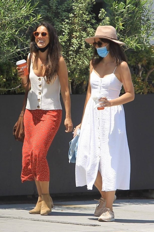 Camilla Belle - On a stroll with a friend in West Hollywood