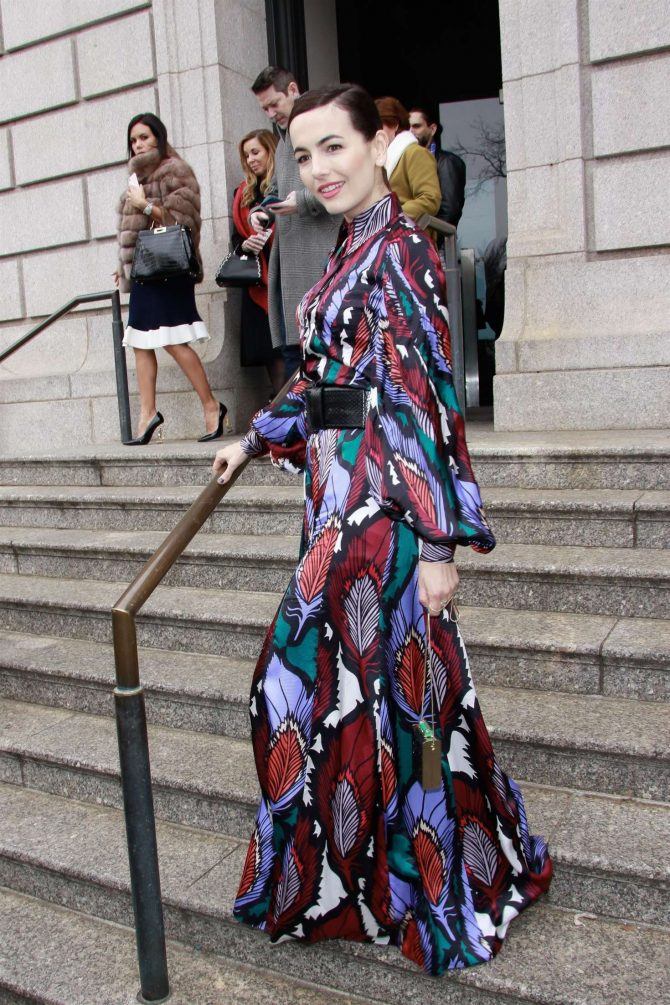 Camilla Belle - Outside Carolina Herrera Fashion Show in NYC