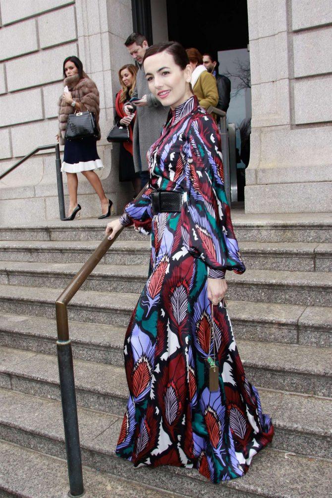 Camilla Belle - Outside Carolina Herrera Fashion Show in NYC