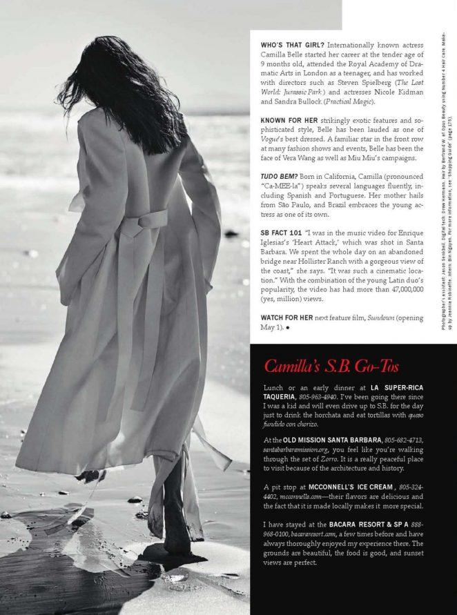 Camilla Belle: Santa Barbara Magazine 2016 -08