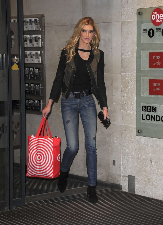 Camilla Cleese - Leaving The One Show studios in London