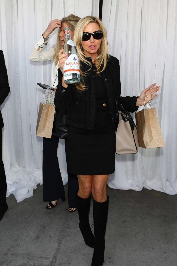 Camille Grammer - Leaving Andy Cohen's baby shower in Beverly Hills