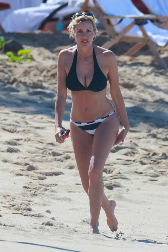 Camille Grammer in Bikini on the Beach in Kona