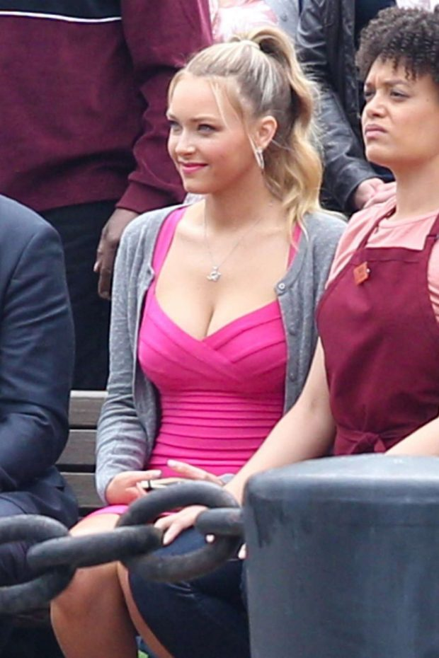 Camille Kostek - On the set of 'Free Guy' in Boston