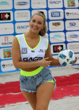 Camille Kostek - Sports Illustrated Swimsuit Celebrity Beach Soccer Match in Miami