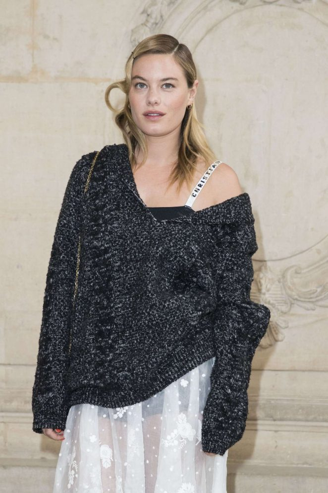 Camille Rowe - Christian Dior Show at 2017 PFW in Paris