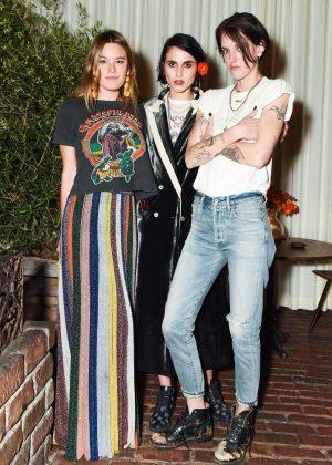 Camille Rowe - Sally Singer and Lisa Love Denim Dinner in Los Angeles