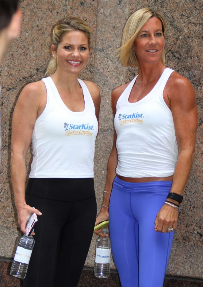Candace Cameron Bure and Kira Stokes at the 'Neou' Fitness in Manhattan