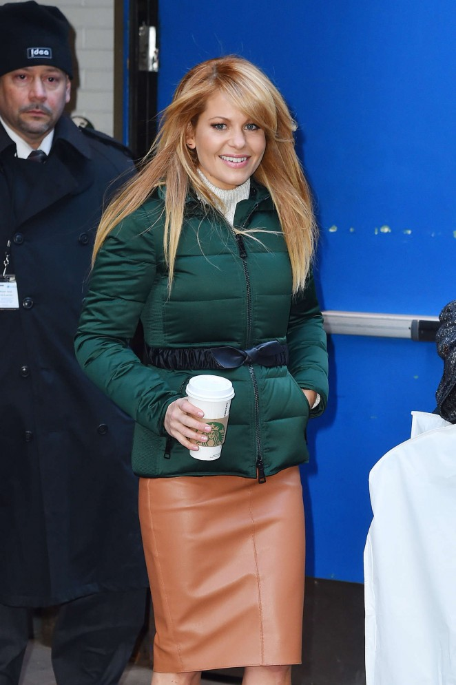 Candace Cameron Bure at Good Morning America in New York