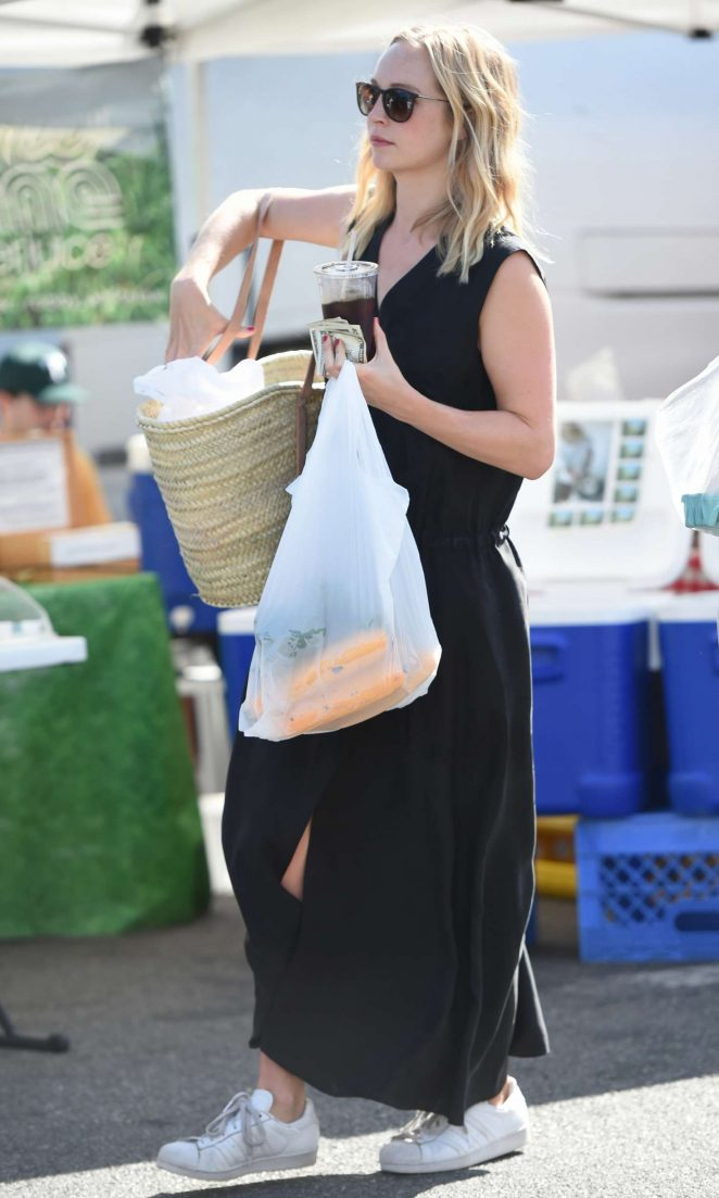 Candice Accola at Farmers Market -05