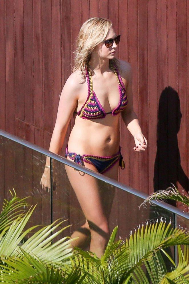 Candice Accola in Bikini at a pool in Rio