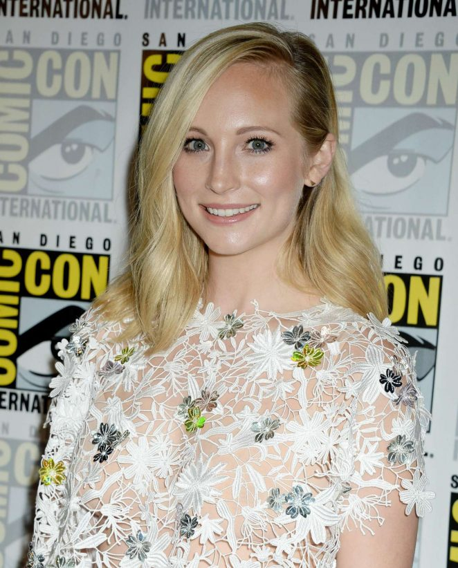 Candice Accola – 'The Vampire Diaries' Press Line at Comic-Con International in San Diego