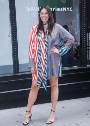 Candice Huffine at AOL Build Series in New York City
