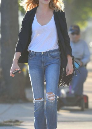 Candice King in Jeans - Out in Los Angeles
