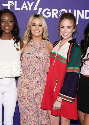 Candice Patton Caity Lotz Vanessa Morgan and Ashleigh Murray - 'Screen Queens' Panel at POPSUGAR Play/Ground in NY