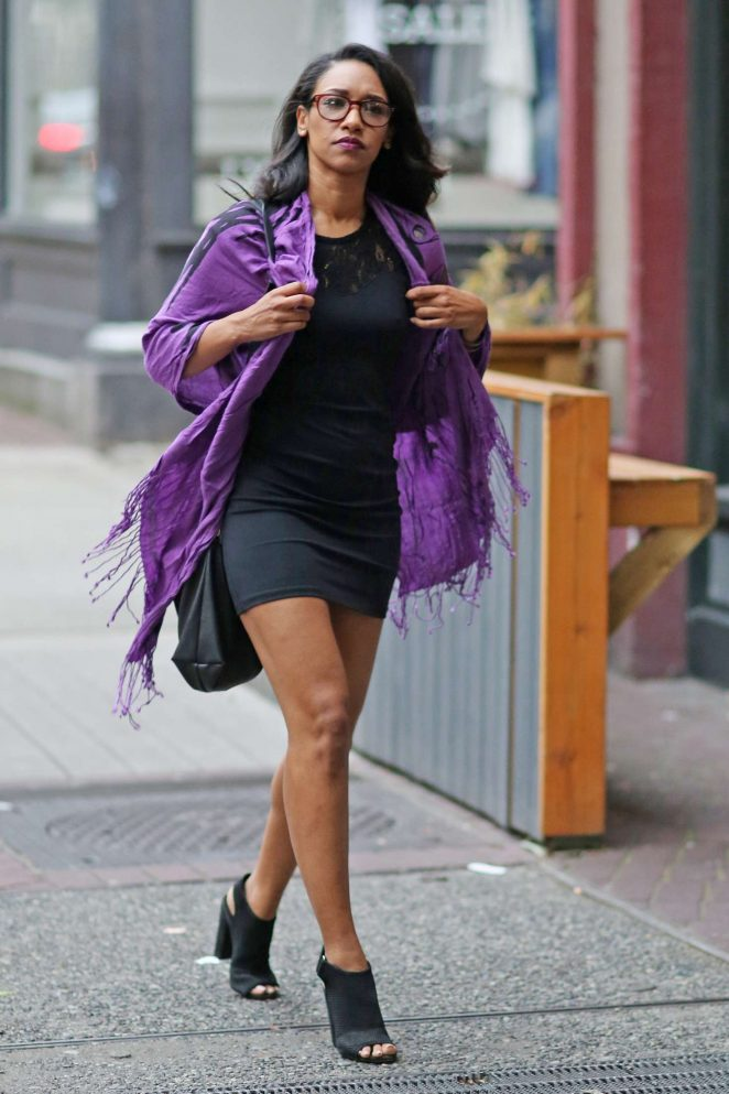 Candice Patton - Headed to a cast party for CW's 'The Flash' and 'Supergirl' in Vancouver