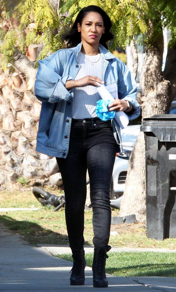 Candice Patton - house hunting in Hollywood