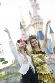 Candice Swanepoel and Isabeli Fontana - Exclusive Party at Disneyland in Paris