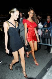 Candice Swanepoel and Joan Smalls - Heads to the Met Gala After Party in NYC