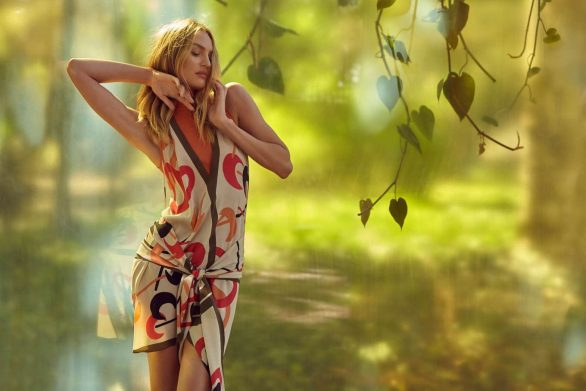 Candice Swanepoel - Animale's Summer Garden Campaign by Henrique Gendre 2019
