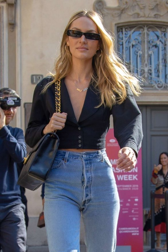 Candice Swanepoel - Arrives at Etro Fashion Show in Milan