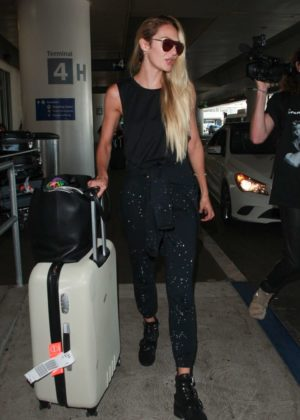 Candice Swanepoel Arrives at LAX Airport in Los Angeles