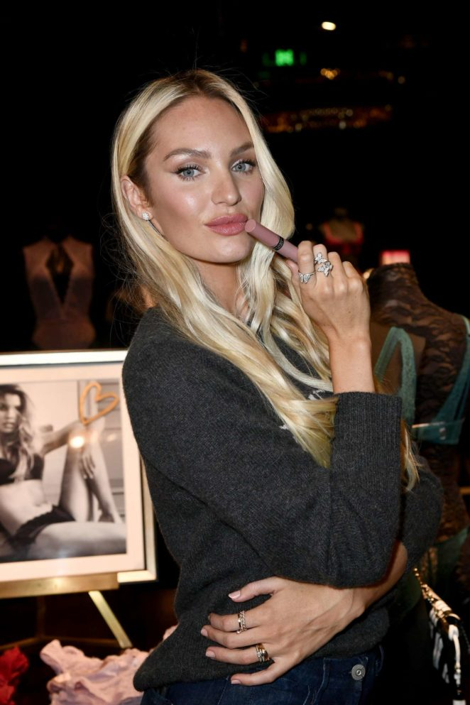 Candice Swanepoel at the Victoria's Secret Store in Shanghai