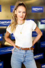Candice Swanepoel - Cantor Fitzgerald Charity Day in New York