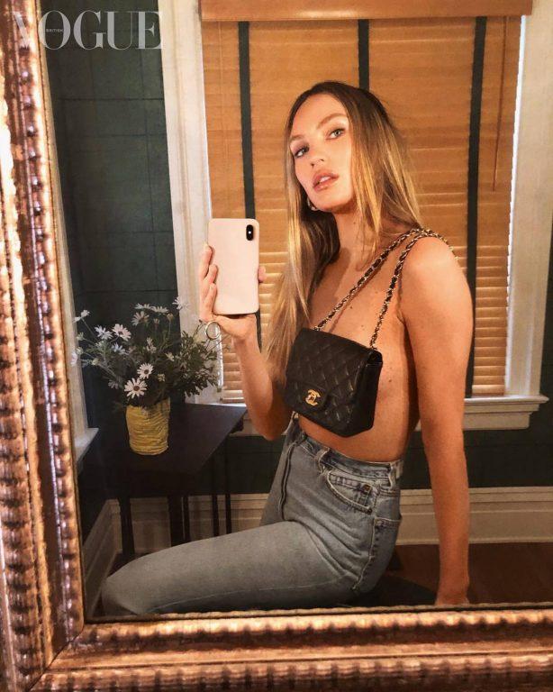 Candice Swanepoel for British Vogue Magazine (July 2020)