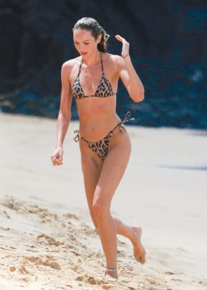 Candice Swanepoel in Bikini on the beach at Fernando De Noronha in Brazil