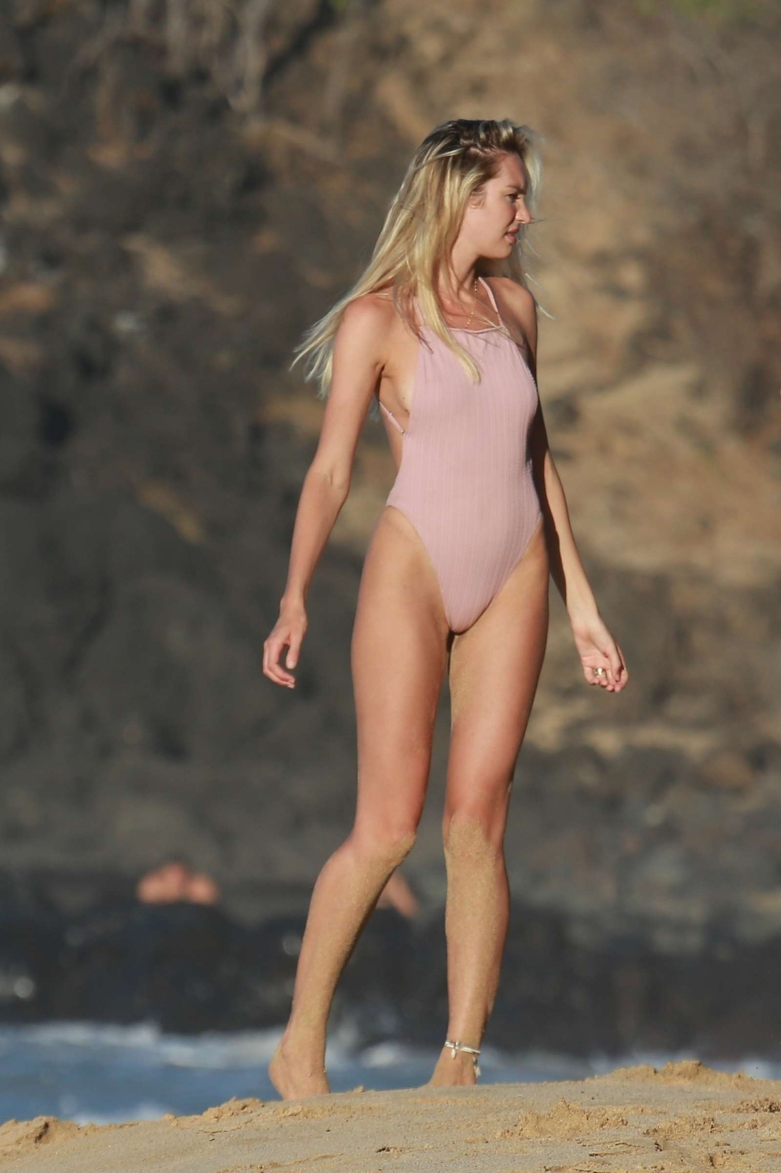 Candice Swanepoel in Swimsuit on the beach of the Island of Fernando De Noronha
