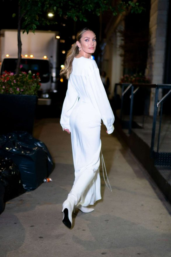 Candice Swanepoel 2019 : Candice Swanepoel in White Dress – Out in NYC-10