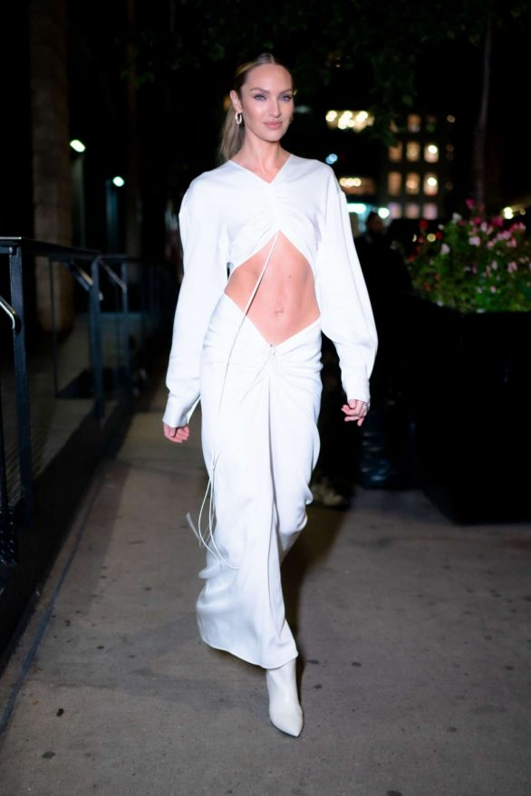 Candice Swanepoel 2019 : Candice Swanepoel in White Dress – Out in NYC-11