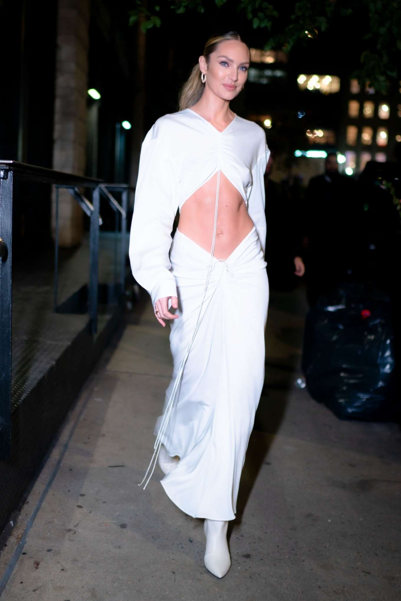 Candice Swanepoel 2019 : Candice Swanepoel in White Dress – Out in NYC-14