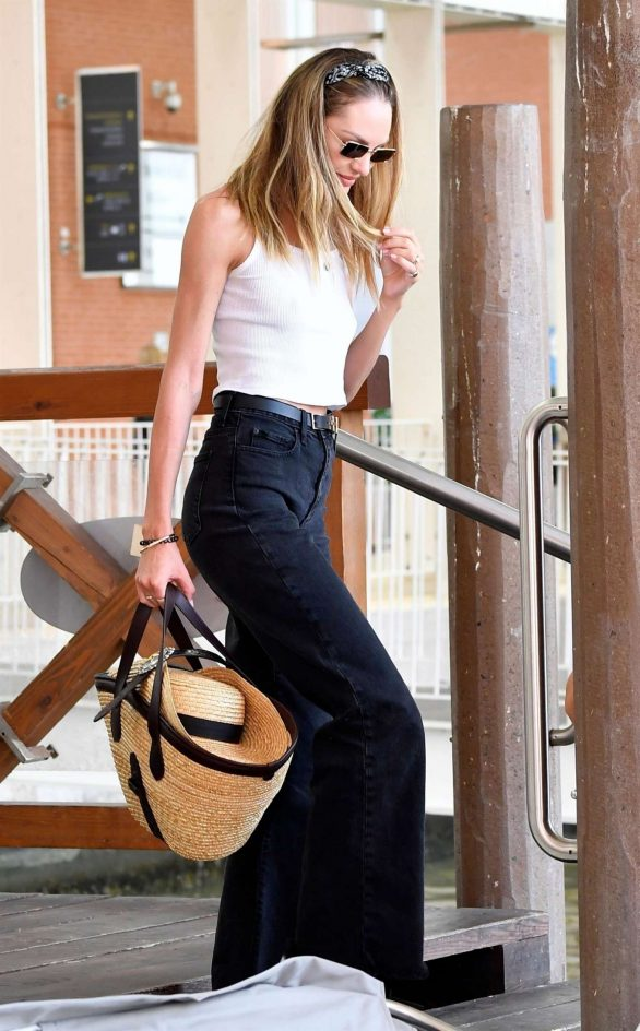 Candice Swanepoel is seen arriving at the 76th Venice Film Festival