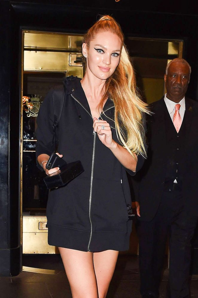 Candice Swanepoel Leaves her hotel in New York