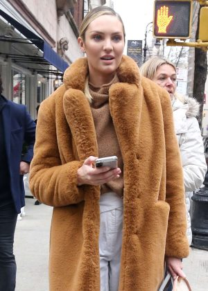 Candice Swanepoel - Leaving Ralph Lauren Show in New York