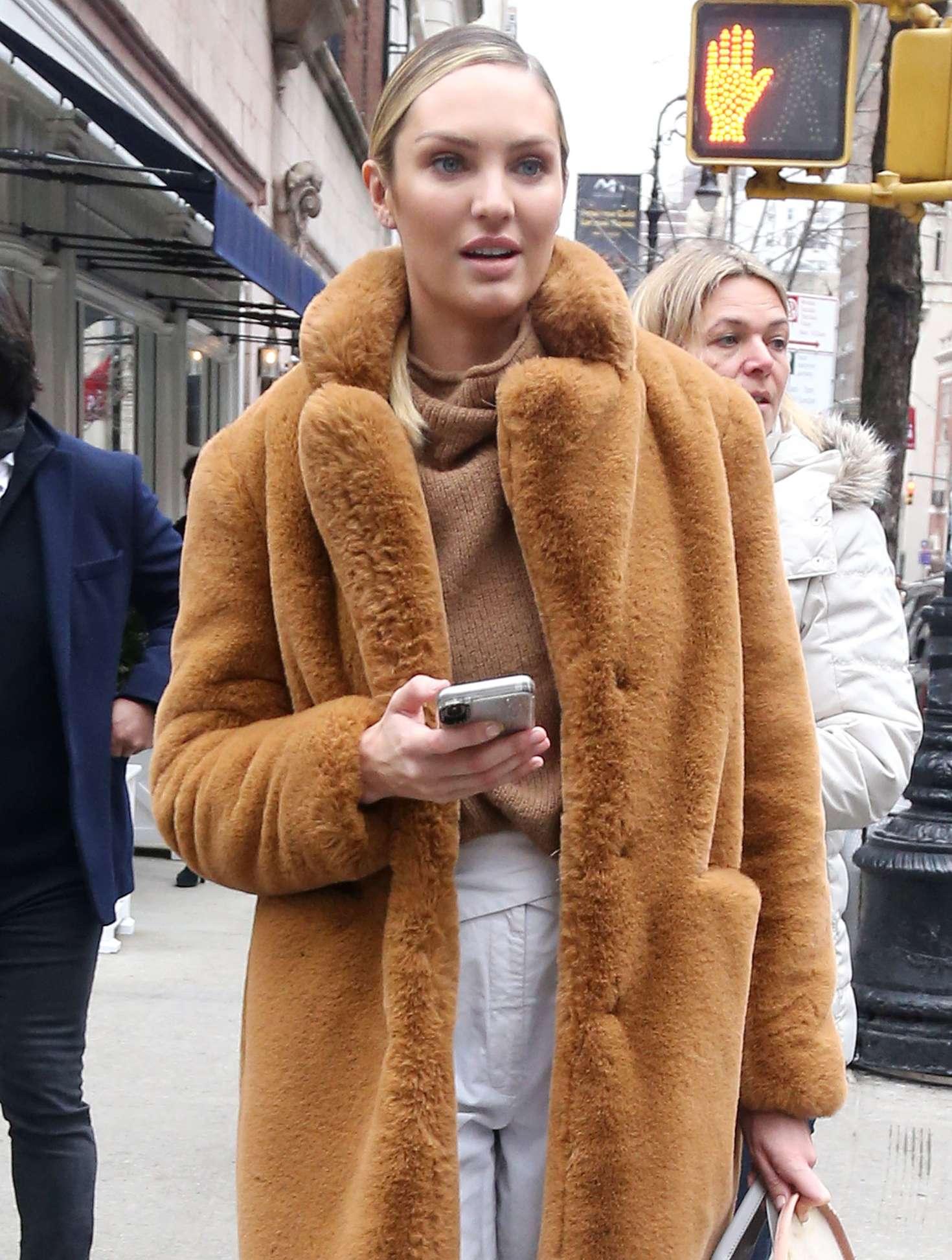 Candice Swanepoel - Leaving Ralph Lauren Show in New York
