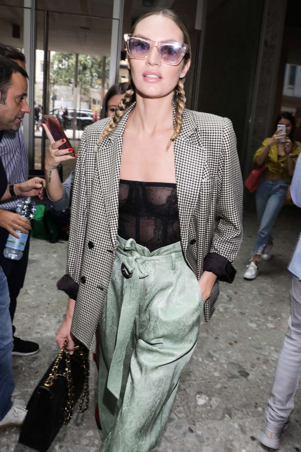 Candice Swanepoel - Leaving the Max Mara Show in Milan
