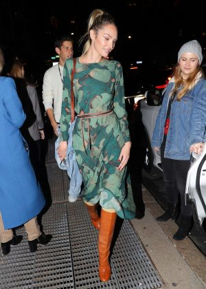 Candice Swanepoel - Leaving the Prabal Gurung Fashion Show in New York