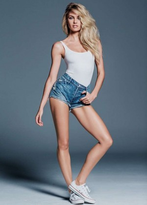 Candice Swanepoel - Mother Denim Line 2015