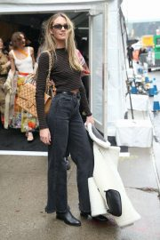 Candice Swanepoel - Outside Zimmermann Show 2020 at New York Fashion Week