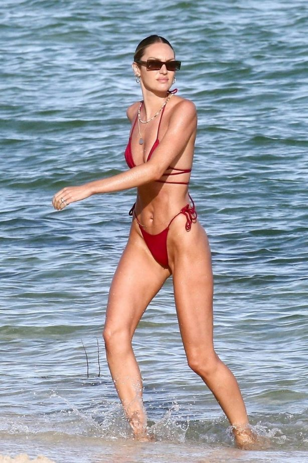 Candice Swanepoel - Seen at a Beach in Miami