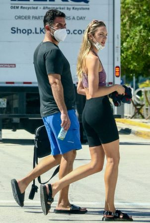 Candice Swanepoel - Seen on the streets of Miami Beach