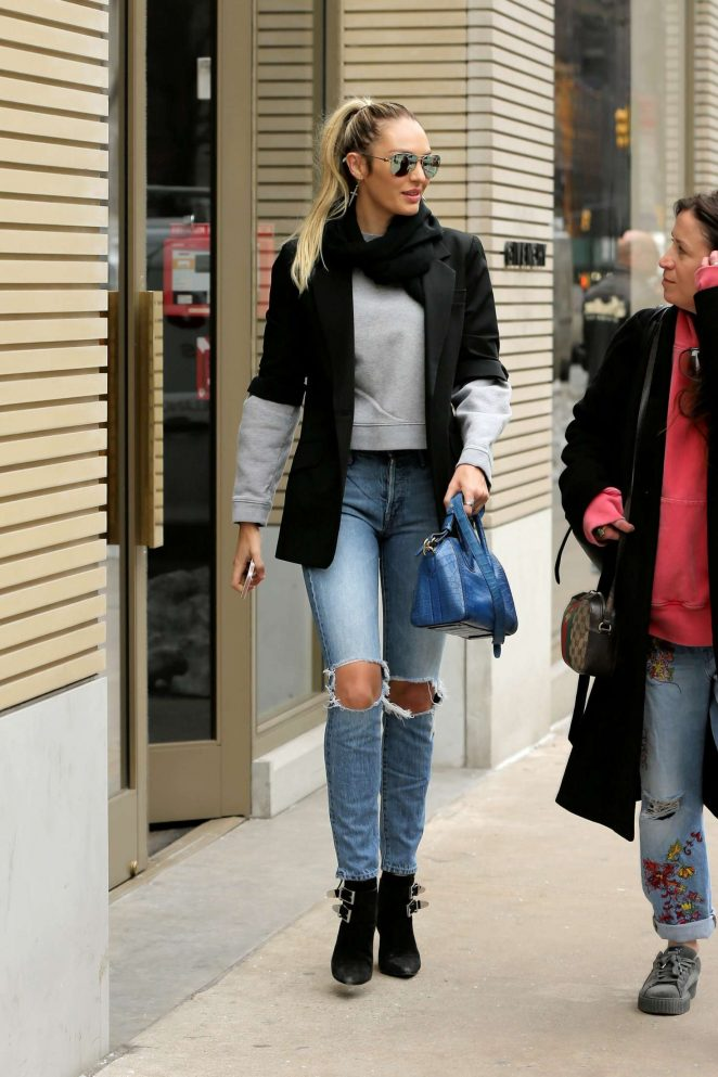 Candice Swanepoel - Shopping at Givenchy in New York City
