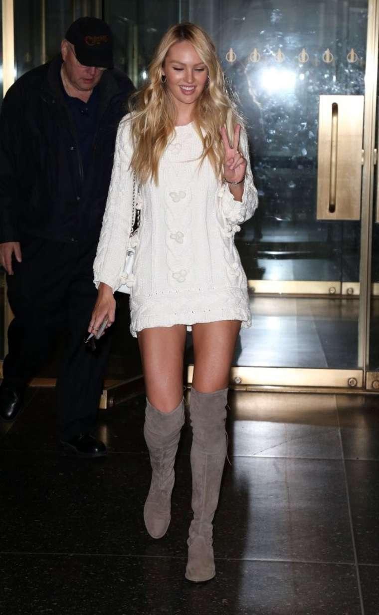 Candice Swanepoel 2015 : Candice Swanepoel in Short Dress -04