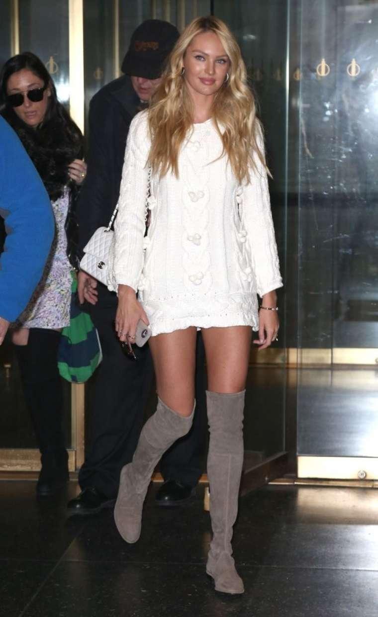 Candice Swanepoel 2015 : Candice Swanepoel in Short Dress -05