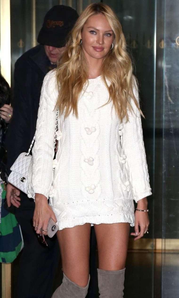 Candice Swanepoel 2015 : Candice Swanepoel in Short Dress -08